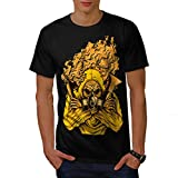 Masked Terrorist Man Gas Fire Men NEW L T-shirt | Wellcoda