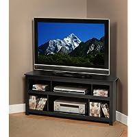 Black Vasari Corner Flat Panel Plasma / LCD TV Console