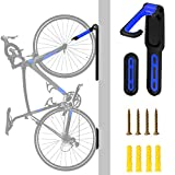 Bicycle Wall Mounted Hanger, Foldable Storage Hook, 40 LB Heavy-duty Stand Parking with Tire Pads, Super Space-saving Vertical Bike Racks,Folder Trek Road Mountain Kids'Bicycles Use(Screws Included)