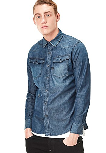 Aged Manches star 3301 Restored Longues shirt À Medium T Raw G Homme vCxZwdXqX