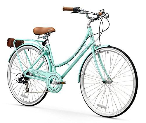 FIRTH SPORTS Nadine SE Women's Aluminum Step-Thru City Bike (Green, 7 Speed/Medium)