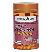 Healthy Care Sheep Placenta 5000mg 100 Capsules Nutritional Supplements Made in Australia