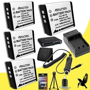 Amazon.com: Cuatro Halcyon 1400 mAh de litio ion Batería de ...