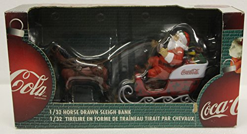 Coca Cola Santa Clause 1/32 horse drawn sleigh bank ertl diecast 1999 coke