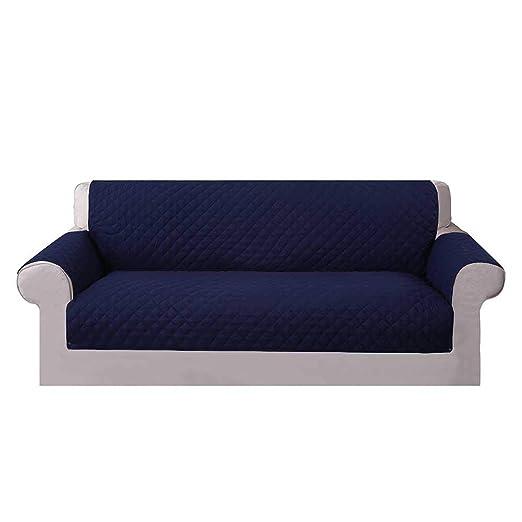 Umiwe Funda Sofa 3 Plazas Cubre Sofas 2 Plazas Funda Sillon Sofa Saver elasticas para Perro en Negro Borgona Marron Azul (3 plazas, Azul 1)