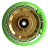 Team Dogz 100mm Hollow Core Stunt Scooter Wheel - Gold Chrome/Green