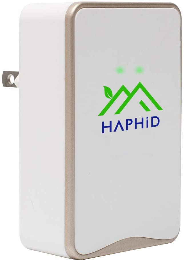 Air Purifier HAPHID Negative Ion Generator with Highest Output - Up to 32 Million Negative Ions/Sec, Filterless Mobile Ionizer & Portable Purifier Clean: Allergens,Pollutants, Odors, Etc(1 Pack,Gold)