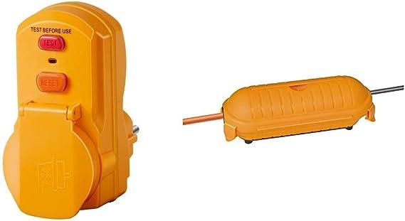 Brennenstuhl 1290660 Personenschutz Adapter Bdi A 2 30 Ip54 230 V Gelb Safe Box Schutzkapsel Für Kabel Big Ip44 Outdoor Gelb 1160440 Baumarkt