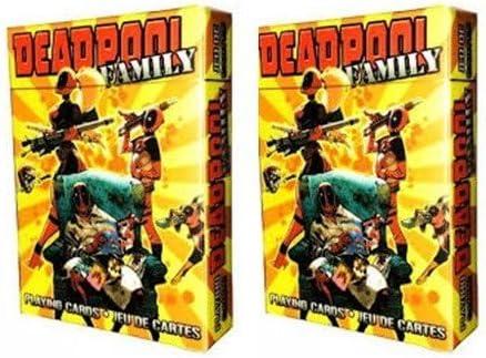 Deadpool familia juego de cartas 2-Pack Set por Acuario: Amazon.es: Deportes y aire libre
