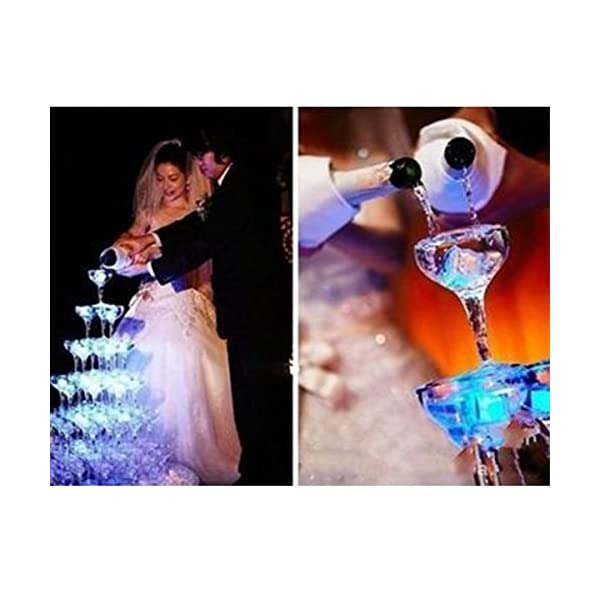 12 Pezzi Luminous ice,Xrten Cubo Ghiaccio LED Ice Cube Adatto per Bar, Balli, Ricevimenti, Feste, Matrimonio 2 spesavip