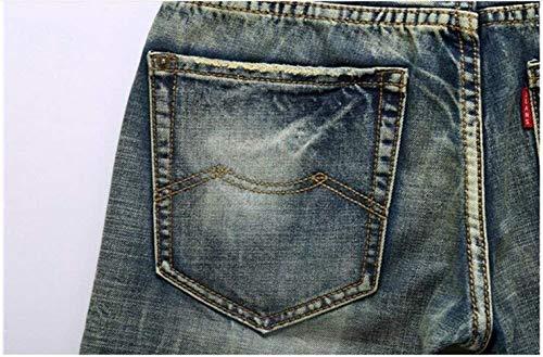 Uomo Moda Da Classici Cowboy Estilo Ne Denim Jeans cultivings Straight Alla Especial Ssig Self Blau qEBnHR