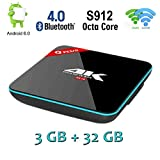 Q PLUS Android Box - COOLEAD Android 6.0 TV Box with Amlogic S912 Octa-Core 4K Ultra HD, 3GB RAM / 32GB ROM,Support 2.4GHz / 5GHz Dual Wifi Bluetooth HDMI