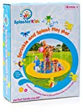 "SplashinKids 68"" Sprinkle and Splash Play Mat toy for infants toddlers and kids - perfect inflatable outdoor sprinkler pad"