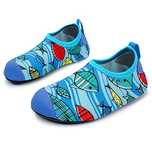 317ca3d4bd4 Galleon - L-RUN Children Water Shoes Barefoot Skin Shoes Kids Swim Shoes  Blue 6-7 EU 22-23