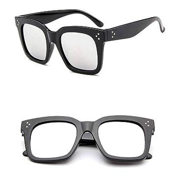 TYJYTM Gafas de Sol con Montura Grande Leopardo Cuadrado ...