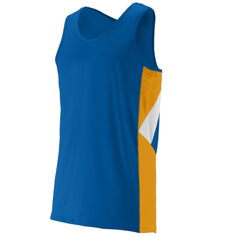 Sprint Jersey - Adult - Style 332 - ROYAL/GOLD/WHITE - 3XL