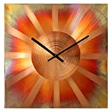 Large Square Copper Wall Clock 16-inch – Silent Non Ticking Gift for Home/Office/Kitchen/Bedroom/Living Room Review