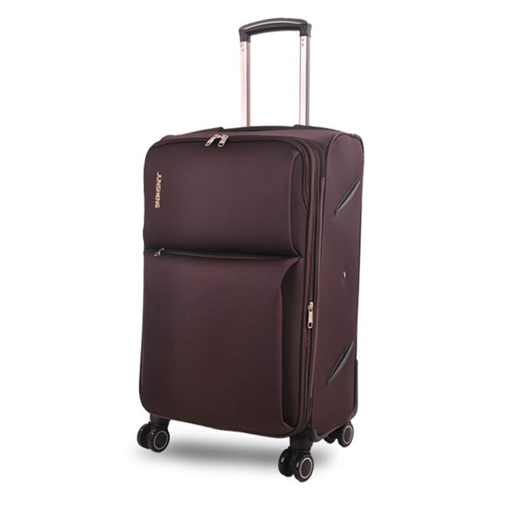 ZHANGQIANG ハンドトラベル荷物トロリーケース 超軽量4の車輪の紡績工の旅行トロリー荷物のスーツケース、手の小屋の荷物 (色 : ブラウン ぶらうん, サイズ さいず : 46*33*67cm(28)) B07S6TFZRT ブラウン ぶらうん 46*33*67cm(28)