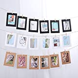 """X-Large Picture Frame, ITTA 2 Pack / 20 pcs Creative DIY Paper Photo Frame Wall Decor with Mini Clothespins and Hemp Ropes - Fits 8""""x 10"""" Pictures (3 Color)"""