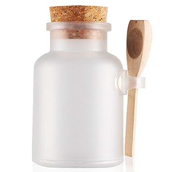 d97f97f5ae20 Amazon.com : 2 Pcs 200ml Empty Frosted Bath Salt Bottles Plastic ...