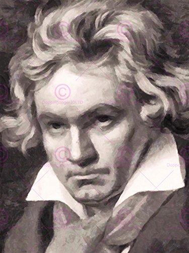 - Doppelganger33 Ltd Painting Portrait Composer Ludwig Van Beethoven Canvas Art Print