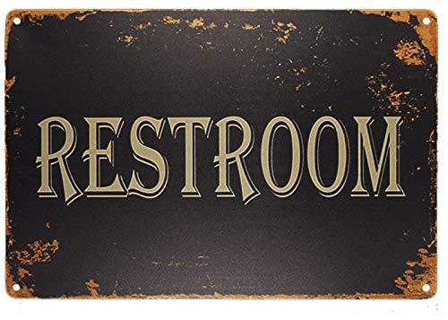 Monifith Restroom Vintage Metal Sign Bathroom Door Signs for Offices Businesses Restaurants 8X12 Inch