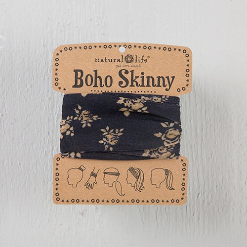 Natural Life Boho Bandeau Skinny with Black & Cream Floral (New Style)