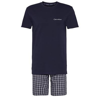 ff15317bca Calvin Klein Short Set Pyjamas Small B Navy Top/Clark Plaid Bold Navy