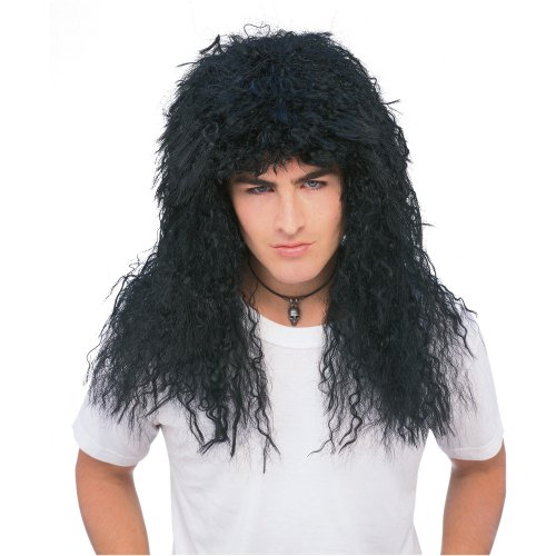 [Rubie's Costume New Wave Wig, Black, One Size] (David Lee Roth Halloween Costume)