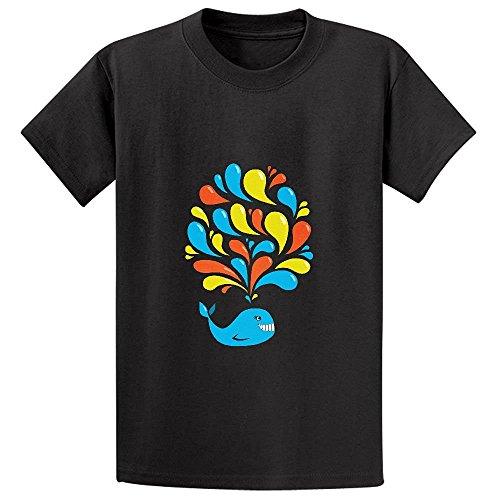 T-shirt Sweatshirt Reunion - Snowl Dark Colorful Splash Happy Cartoon Whale Child Crew Neck T-shirt