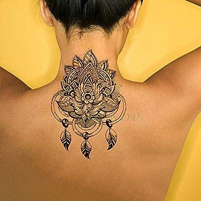 Handaxian Etiqueta engomada del Tatuaje a Prueba de Agua 3pcs Rose ...