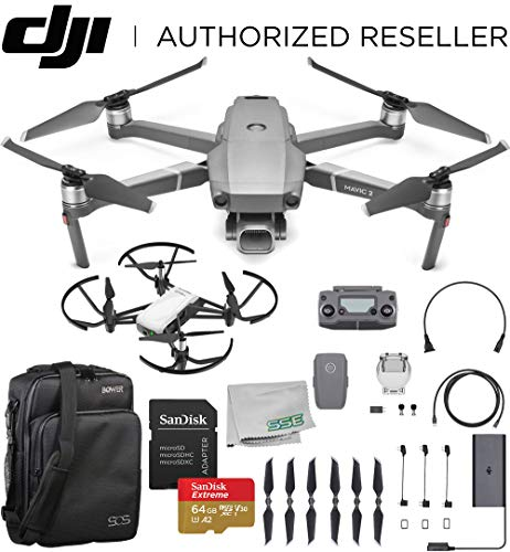 DJI 2019 Mavic 2 Pro 2 Drone Quadcopter with Hasselblad Camera 1″ CMOS Sensor with Ryze Tello Drone Trainer Bundle