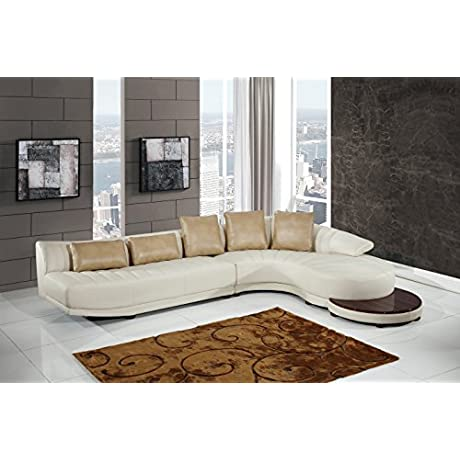 Global Furniture UFM208 SECTIONAL Blanche Sectional Milky Ivory