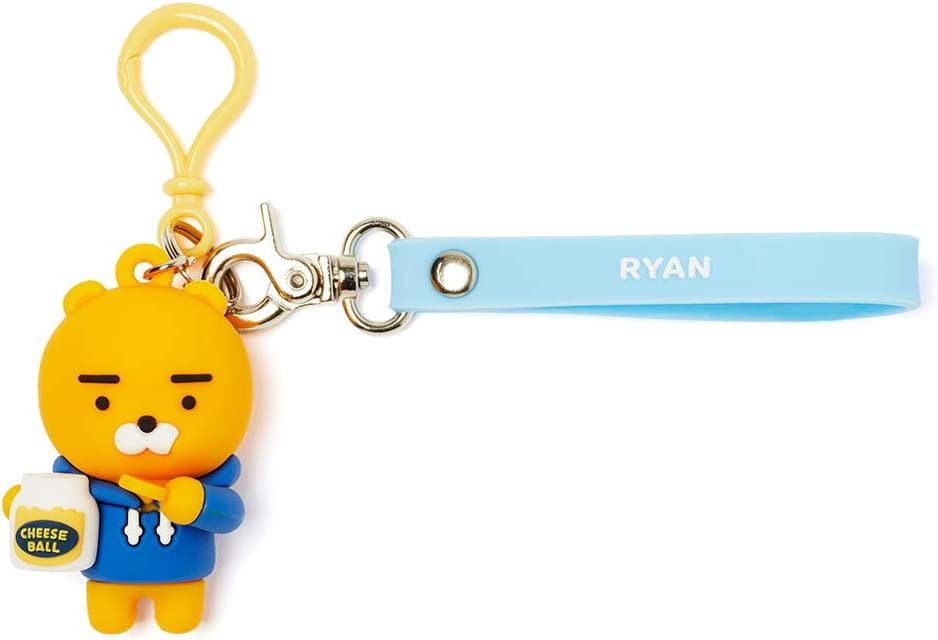 Ryan Figure Key Ring KAKAO FRIENDS Official Compatible with AirPods Silicone Case