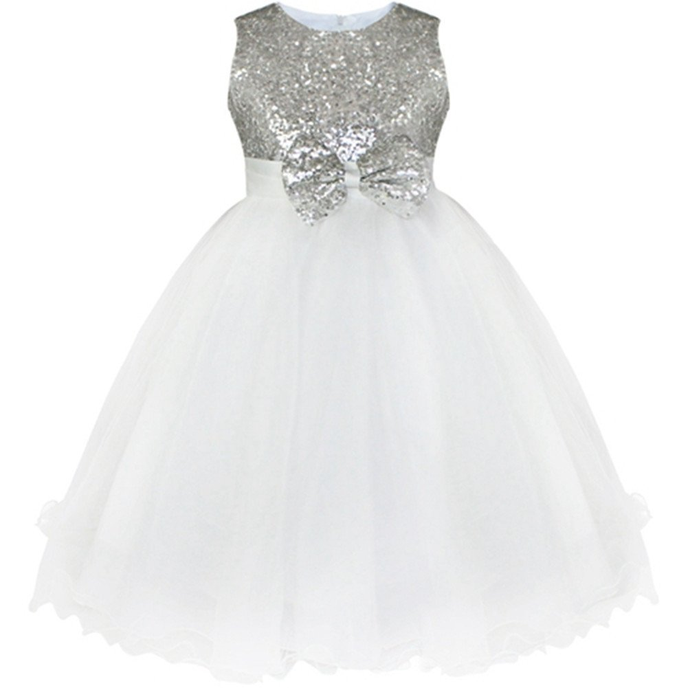 Little Girls Pageant Party Wedding Bridesmaid Princess Formal Sequins Gown Dress So Aromatherapy