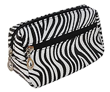 77f09850c5 Cosmetic Bag Womens Make up bags Beauty Bag Holder for Ladies Girls Animal  Print Zebra stripes  Amazon.co.uk  Beauty