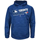 MLB Youth Authentic Collection Team Choice Streak Fleece Hoodie (Youth Large 14/16, Toronto Blue Jays)