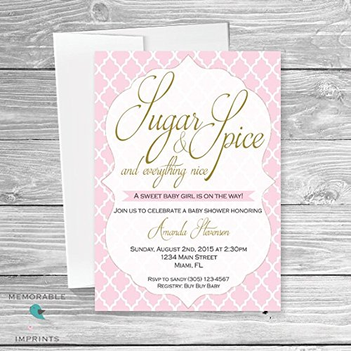Amazoncom Baby Shower Invitation Sugar and Spice Baby Shower