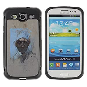 KROKK CASE Samsung Galaxy S3 I9300 - portrait watercolor painting art man - Rugged Armor Slim Protection Case Cover Shell