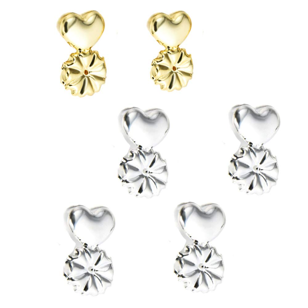 Earring Lifters Earring Magic Lifters Backs Secure Earrings 3 Pairs of Adjustable Hypoallergenic Earring Lifts Belldan