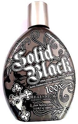 Top Hot Bestsellers Solid Black 100x Bronzer Indoor & Outdoor Dark Tanning Bed Lotion By Millennium