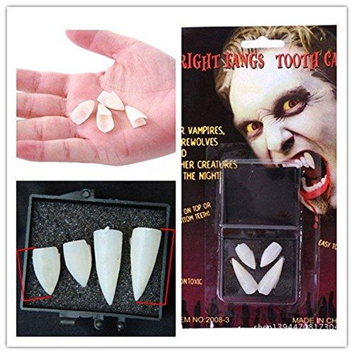 Estone Dentures Vampire Zombie Teeth/Ghost Devil Werewolf Fangs for Costume Party Halloween Props