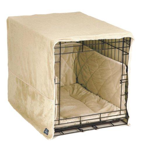 Pet Dreams Plush Cratewear Set, Ivory Fits 24-Inch Crates, 3-Piece, My Pet Supplies