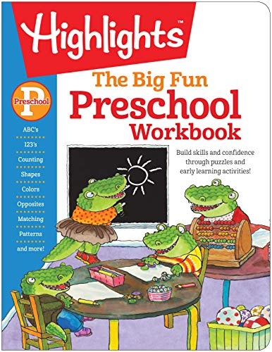 The Big Fun Preschool Workbook Highlights™ Big Fun Activity Workbooks