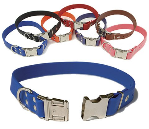 Sparky's Choice Waterproof Dog Collar - 7 collars available - Blue 1in x 18in fits 16in to 18in