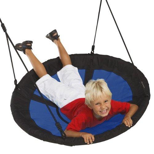 Dein-Spielplatz 1069801008 Nestschaukel Sweebee Durchmesser 98 cm, Pirate und Princess, blau / schwarz