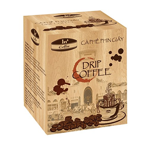 In Coffee - Drip Coffee - (Ca Phe Phin Giay) Medium Roast Premium Brand in Vietnam. 100% Pure Premium Arabica Ground Coffee Beans. 1 BOX = 10 PACKS. No Filter Needed, Just Add Water!!