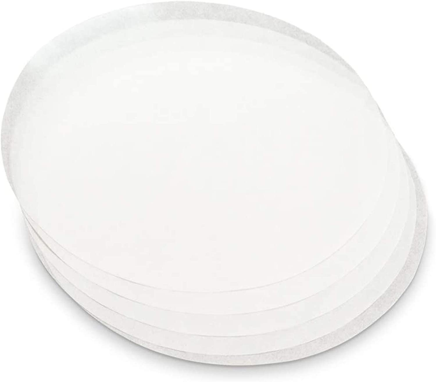 50 Parchment Paper Rounds 8 Inch Precut White Circle Baking Sheets Made In USA Non Stick Wax Liners for Round Cake Pans, Air Fryer, Cake Tin, Toaster Oven, Microwave Oven and Cookie Box
