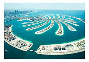 Wall View Dubai Palm Island Wall Mural Wall Paper 300x210 for your Home or Office Decor