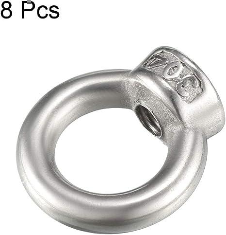 Sourcing Map Augenmutter Ring 8stk M6 Innengewinde Heben 304 Edelstahl Baumarkt